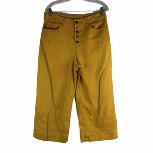 Time And Tru Mustard Button Fly High Rise Jeans